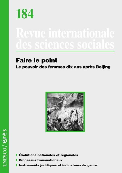 REVUE RISS n.184 ; faire le point ; le pouvoir des femmes dix ans après Beijing