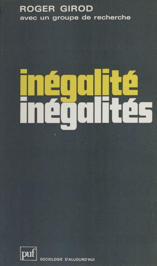 Inégalité - inégalités