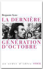 Vente Livre Numérique : La dernière génération d'octobre  - Benjamin Stora