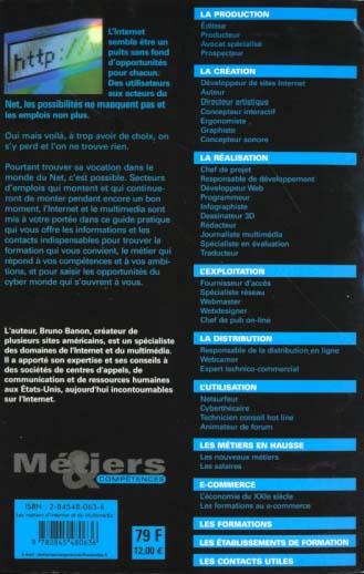 les metiers d'internet et du multimedia