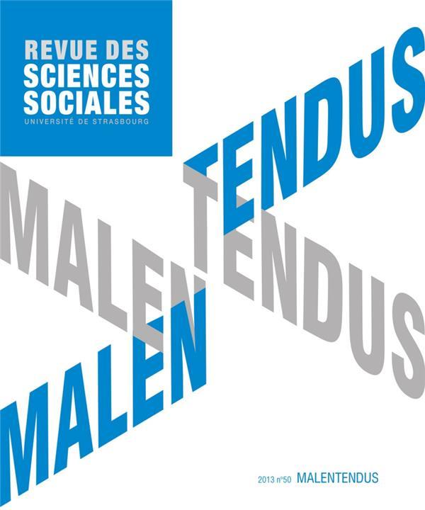 Revue des sciences sociales n.50 ; malentendus