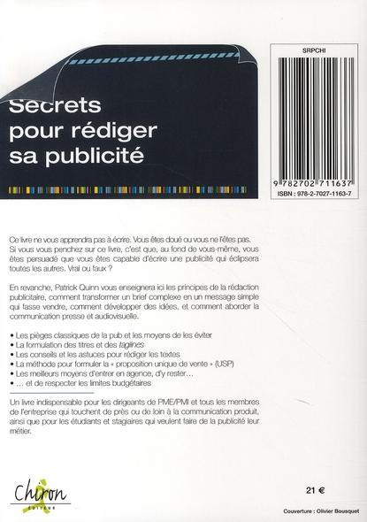 Secrets pour rédiger sa publicité