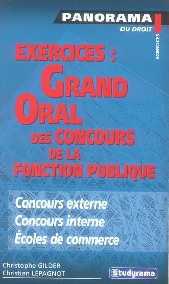 Exercices : grand oral des concours de la fonction publique