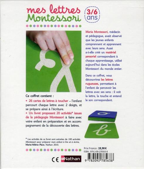 Mes lettres Montessori ; 3/6 ans
