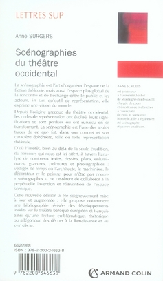 Scénographies du théâtre occidental (2e édition)