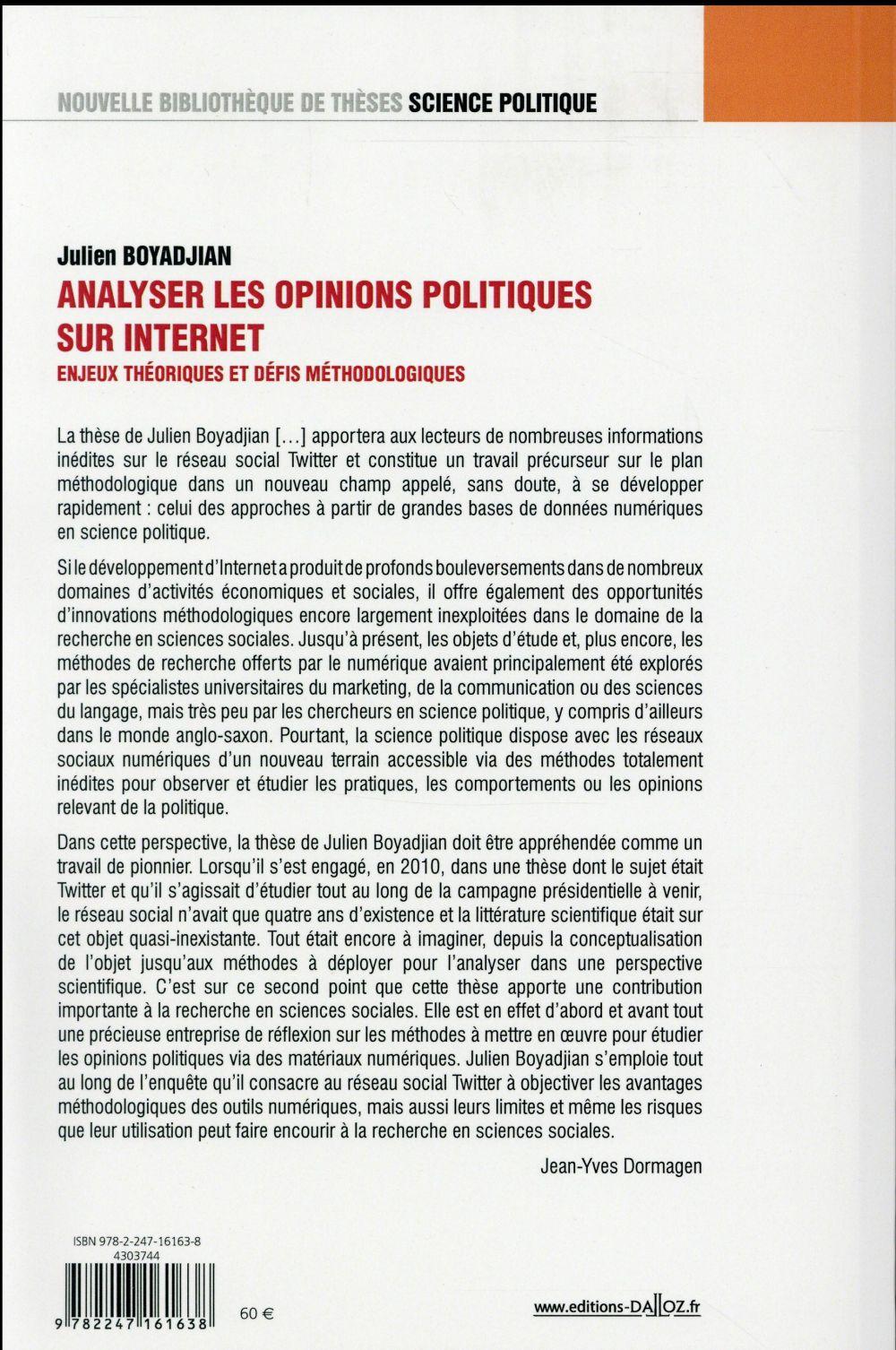 Analyser les opinions politiques sur Internet
