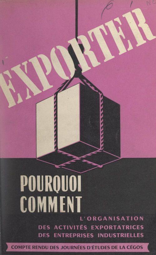 Exporter, pourquoi, comment