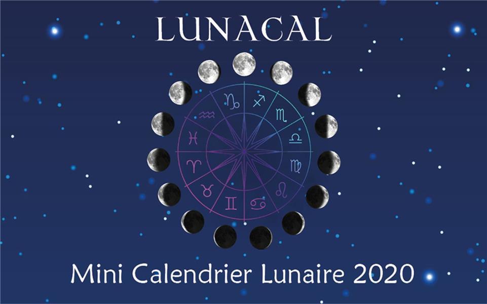 Lunacal, mini calendrier lunaire (édition 2020)
