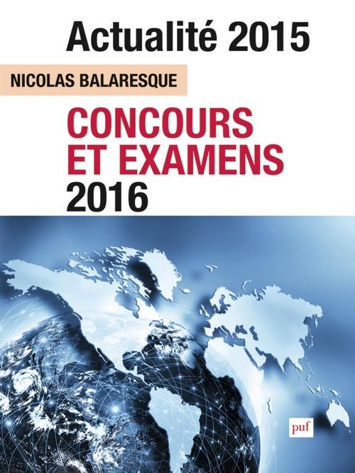 Actualite 2015 concours et examens 2016