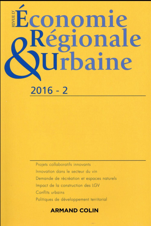 Revue d'économie régionale et urbaine n.2 ; 2016