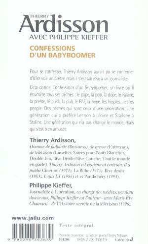Confessions d'un babyboomer