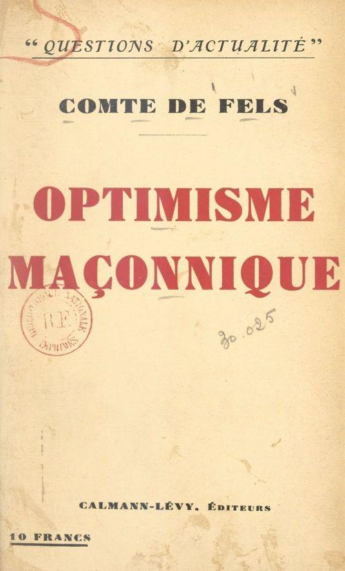 Optimisme maçonnique