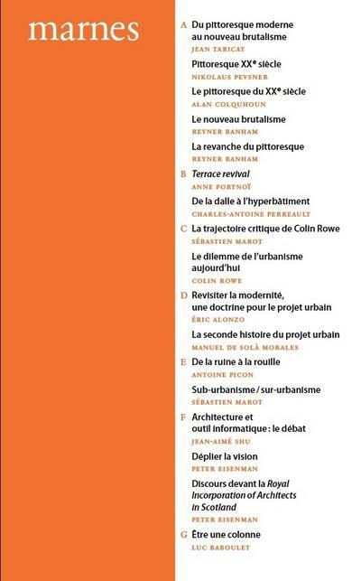 Marnes t.1; documents d'architecture