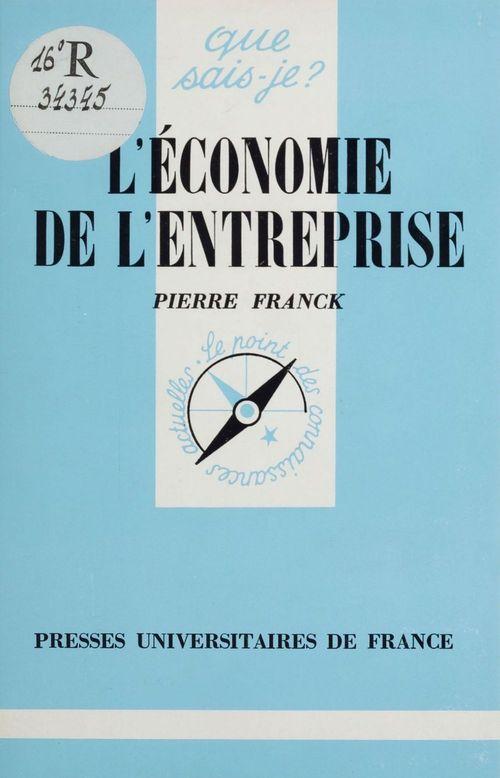Economie de l'entreprise qsj 1839