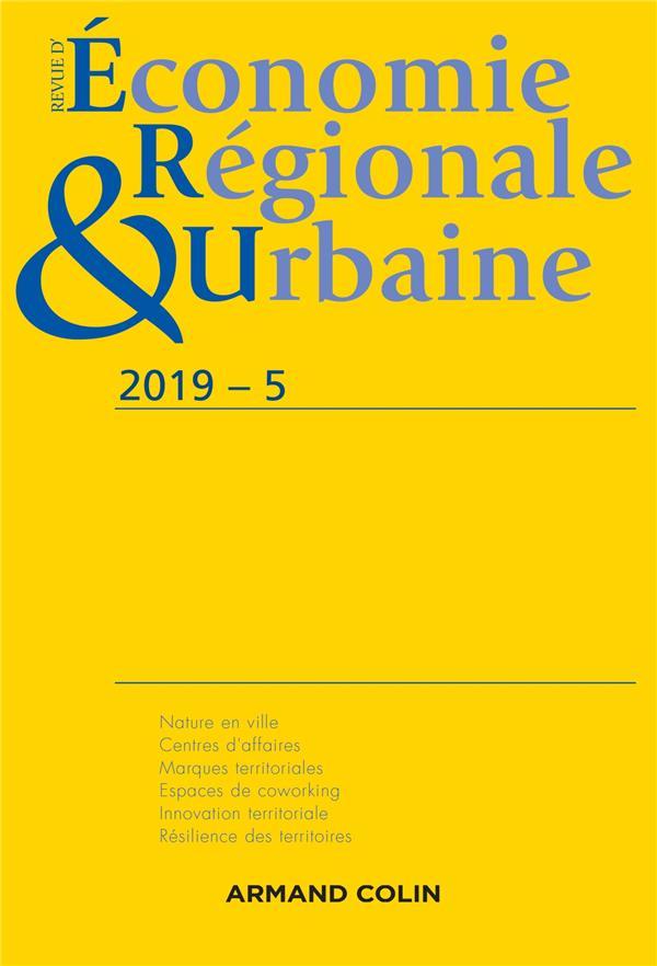 Revue d'économie régionale et urbaine n.2019-5 ; varia