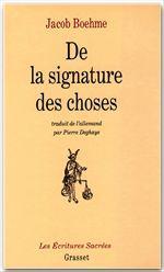 De la signature des choses  - Jacob Boehme