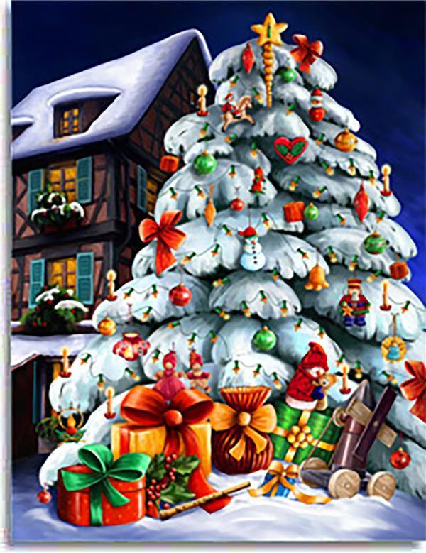 Calendrier de l'avent ; Noël blanc