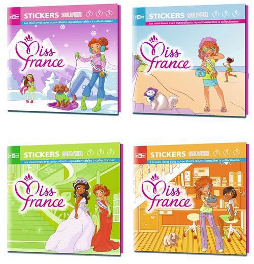 Miss France ; 4 mini livre stickers