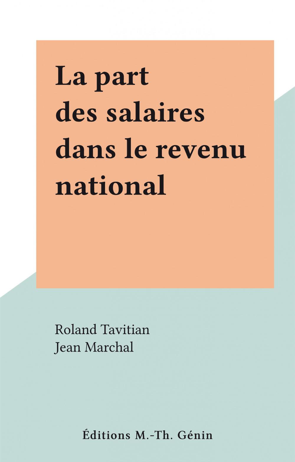 La part des salaires dans le revenu national