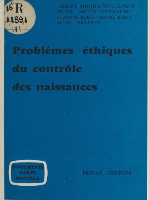Problèmes éthiques du contrôle des naissances