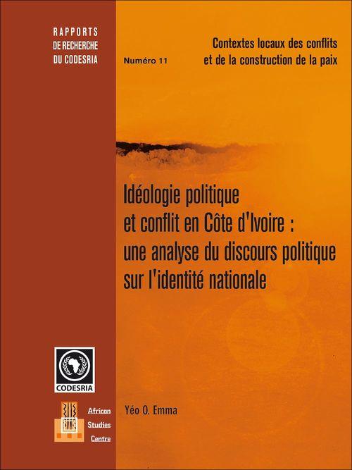 Idéologie politique et conflit en Côte d'Ivoire