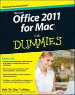 Vente Livre Numérique : Office 2011 for Mac For Dummies  - Bob LEVITUS