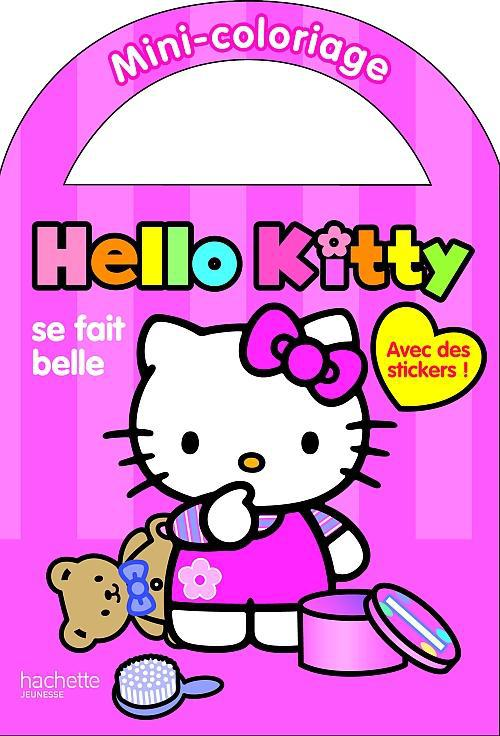 Hello Kitty se fait belle ; mini-coloriage
