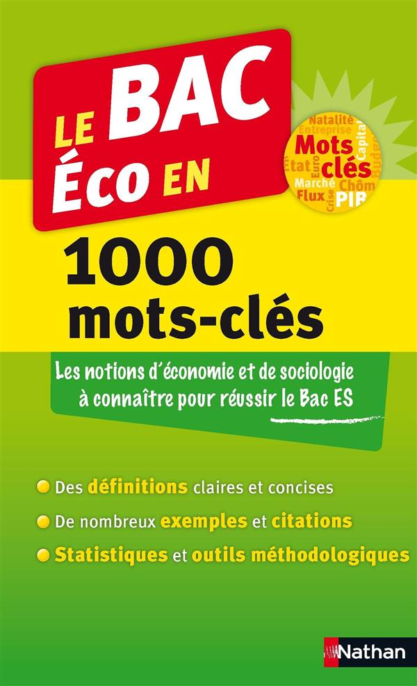 le bac éco en 1000 mots-clés (édition 2014)