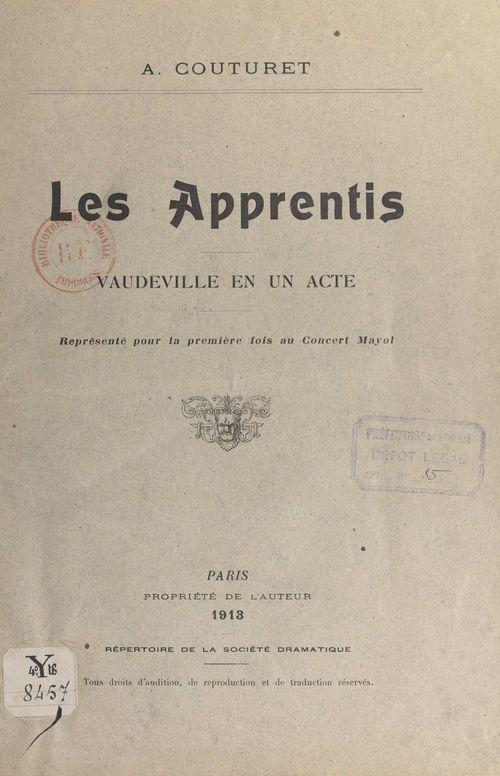 Les apprentis  - Adolphe Couturet