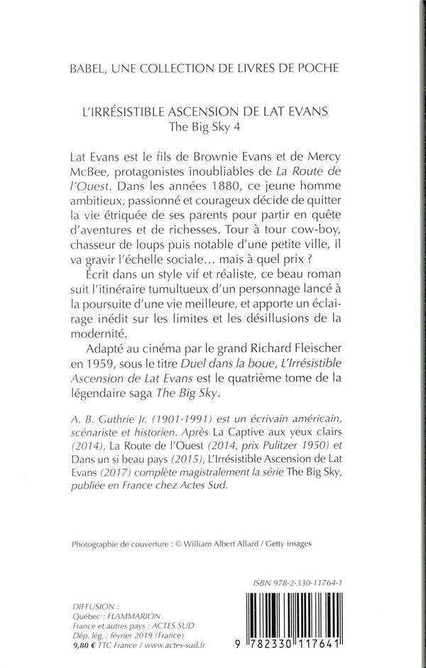 The big sky t.4 ; l'irrésistible ascension de Lat Evans