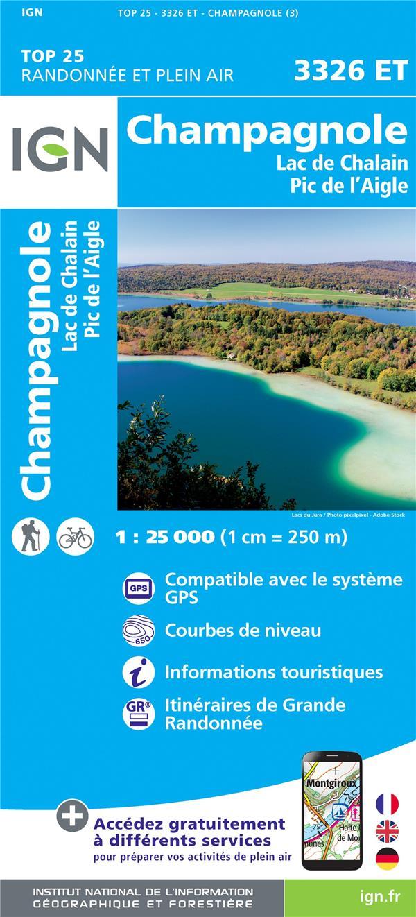 3326ET ; Champagnole, Lac de Chalain, Pic de l'Aigle (3e édition)