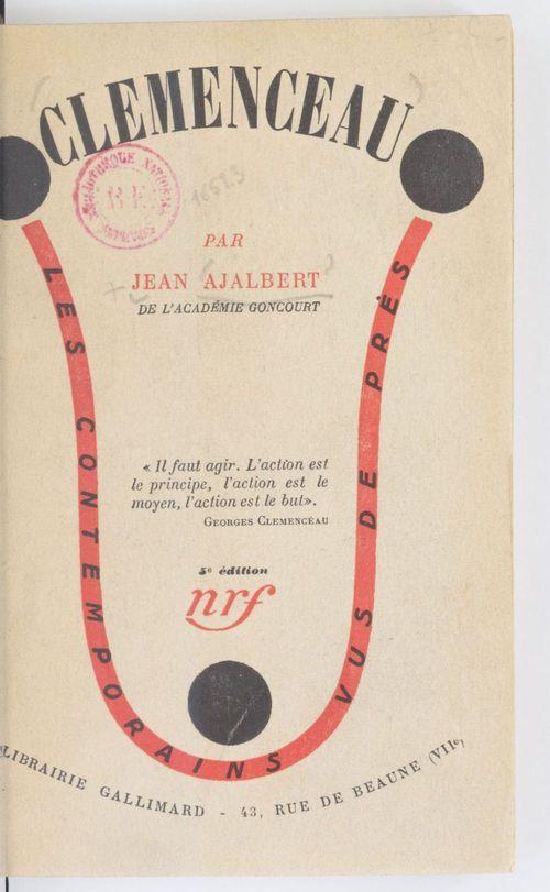 Clémenceau  - Jean Ajalbert