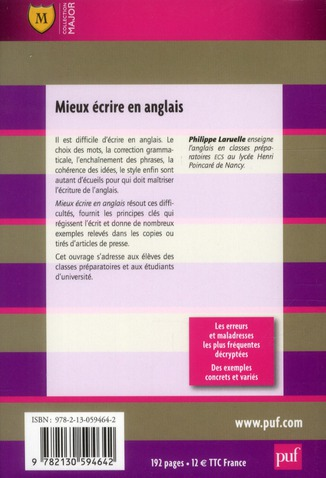 Mieux écrire en anglais (5e édition)