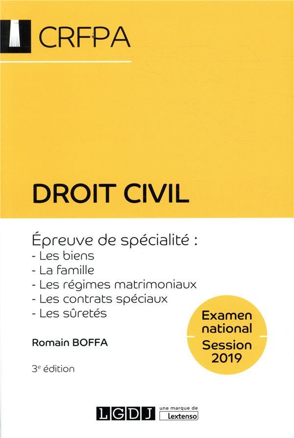 Droit civil ; épreuve de specialite : les biens, la famille, les régimes matrimoniaux (3e édition)