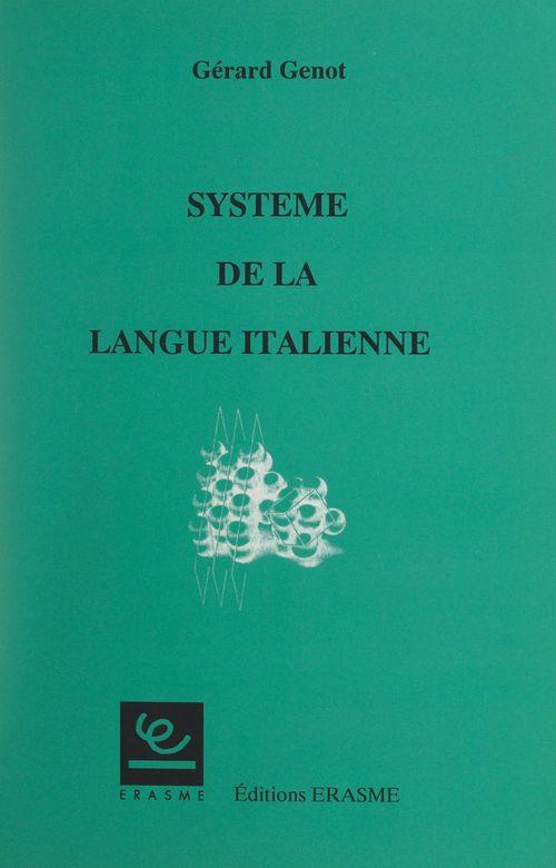 Système de la langue italienne