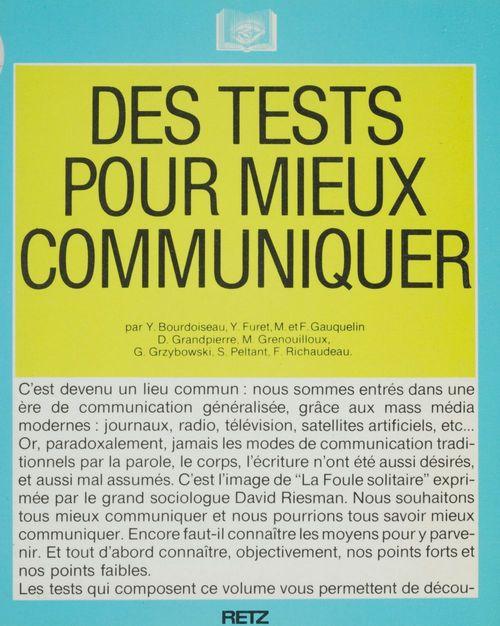 Des tests pour communiquer