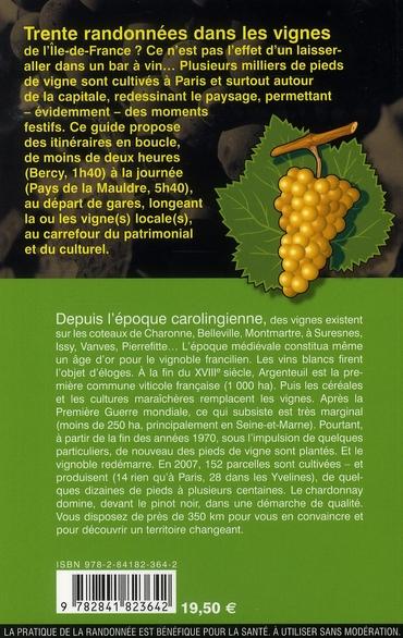 randonnées dans les vignes de l'Ile-de-France