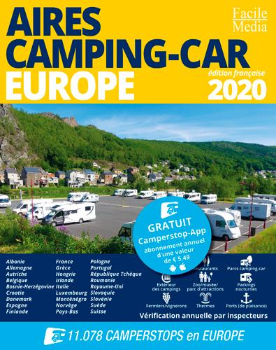 aires camping-car ; Europe (édition 2020)