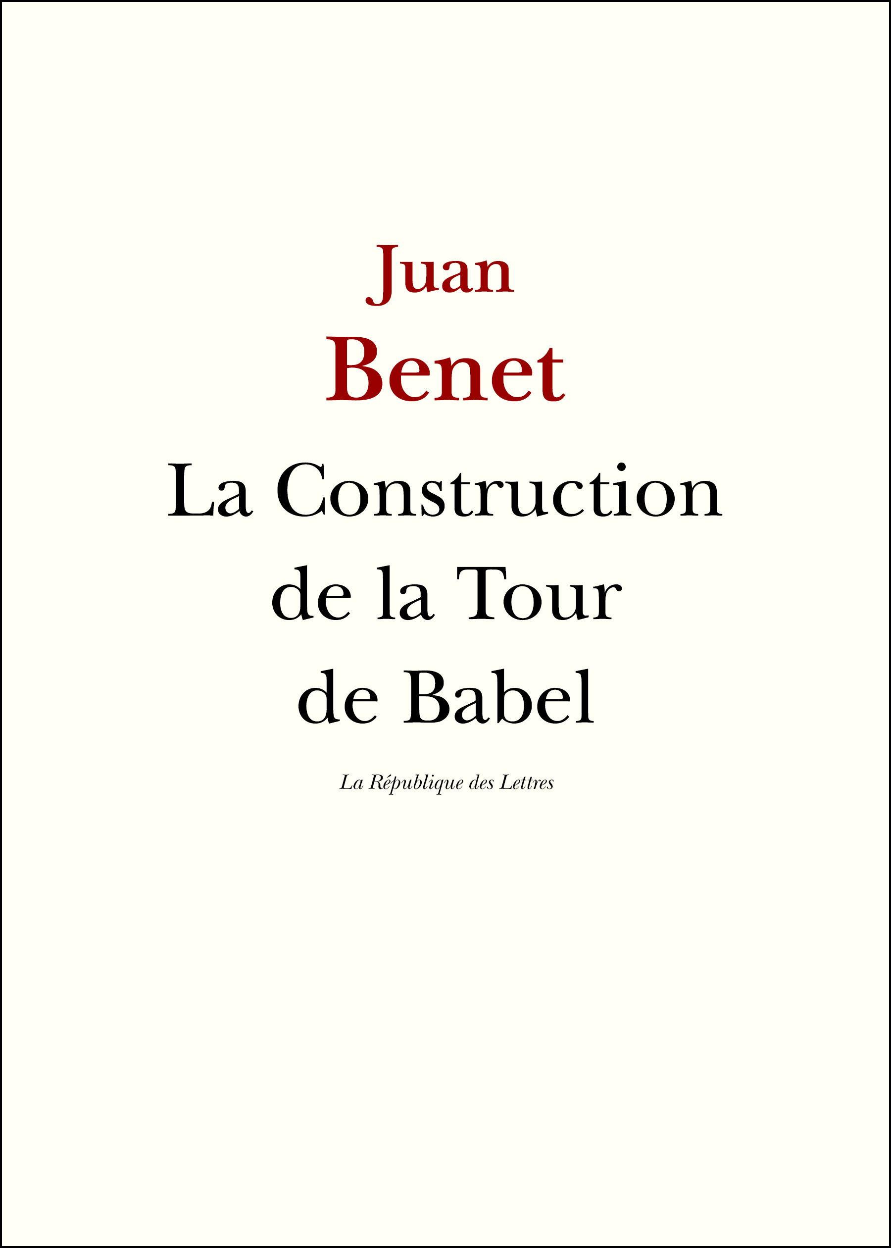 La Construction de la Tour de Babel