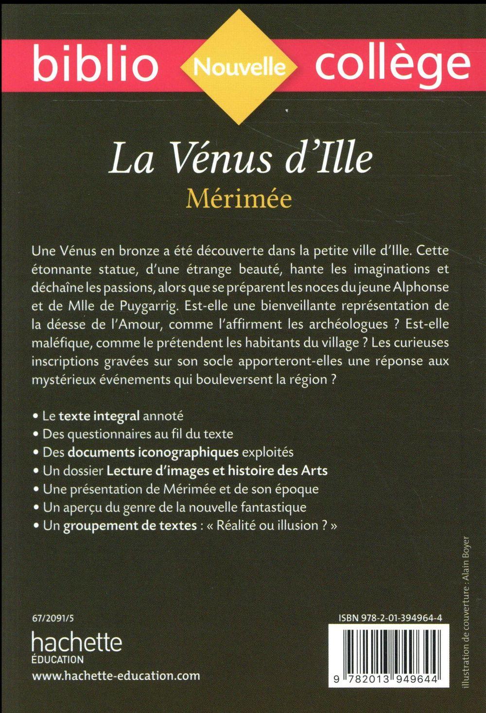 La vénus d'Ille, de Mérimée