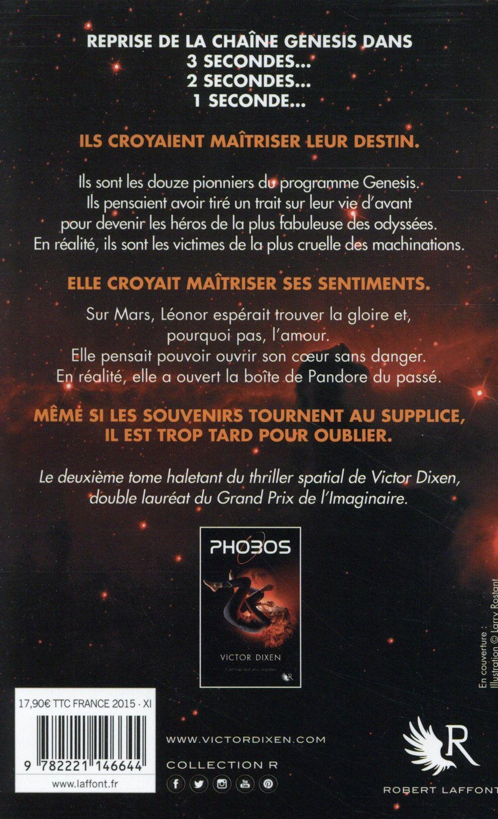 Phobos T.2 ; il est trop tard pour oublier