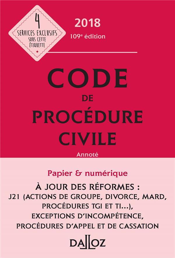 Code de procédure civile annoté (édition 2018)