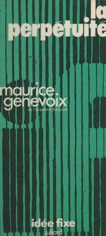 Vente Livre Numérique : La perpétuité  - Maurice Genevoix