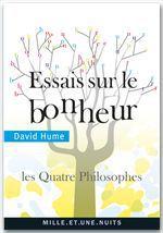 Vente Livre Numérique : Essais sur le bonheur  - David HUME