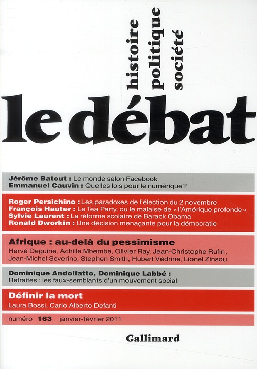 Revue le debat ; (janvier-fevrier 2011)