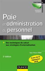 Vente Livre Numérique : Paie et administration du personnel - 5e éd.  - Jean-Pierre Taïeb