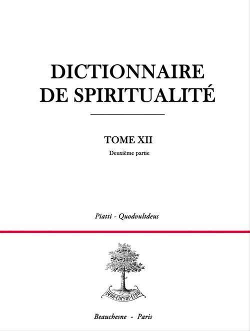 Dictionnaire spiritualite t12/2