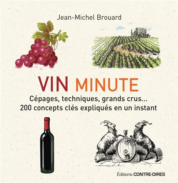 Vin minute ; cépages, appellations, grands crus...200 concepts clés expliqués en un instant