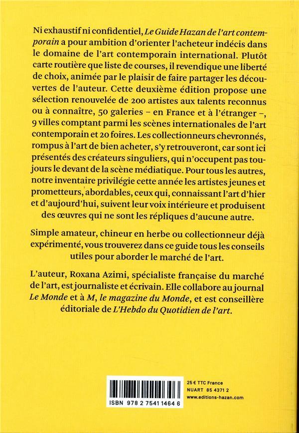 Guide Hazan de l'art contemporain (édition 2019)