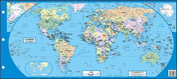 Carte géographique : planche